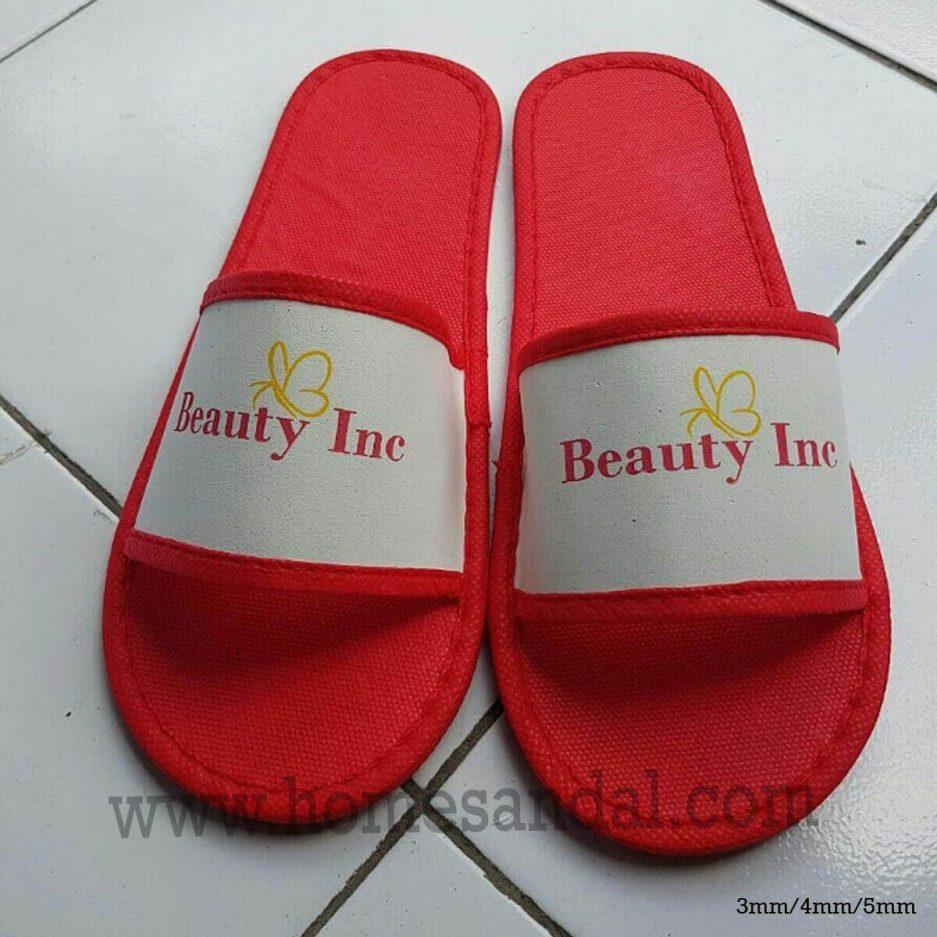 Harga Sandal Hotel Lapis Furing 2 Warna Logo
